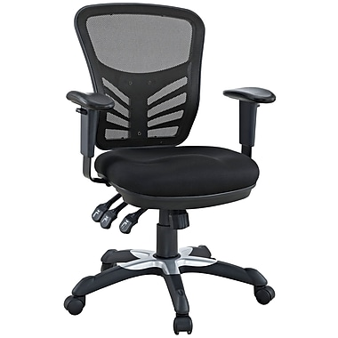 Modway Articulate Mesh Fabric Mid Back Office Chair, Black
