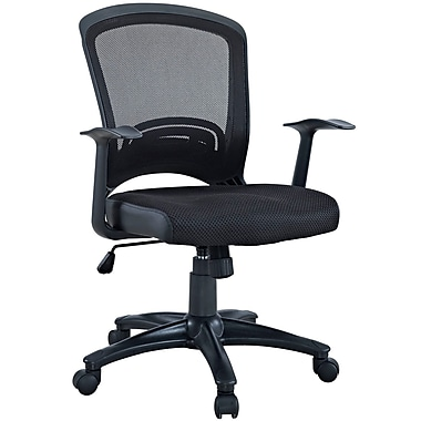Modway Mesh Executive Office Chair, Fixed Arms, Black (848387032784)