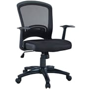 Modway EEI-758-BLK Pulse Mesh Task Chair with Fixed Arms, Black