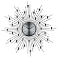 Modway EEI-761 Starburst Wall Clock, Silver/Black