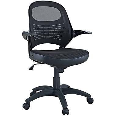 Modway Candid Sleek Padded Mesh Mid Back Office Chair, Black