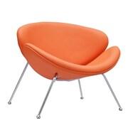Modway Nutshell Vinyl Lounge Chair, Orange