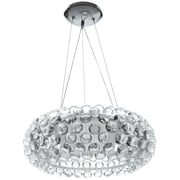 "Modway Halo 20"" Chandelier Light, Clear"