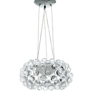"Modway Halo 14"" Chandelier Light, Clear"