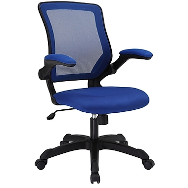 Modway EEI-825-BLU Veer Mesh Executive Chair with Adjustable Arms, Blue