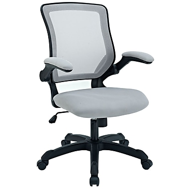 Modway Veer Mesh Fabric High Back Office Chair, Gray