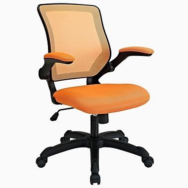 Modway Mid-Back Veer Mesh Executive Chair, Adjustable Arms, Orange