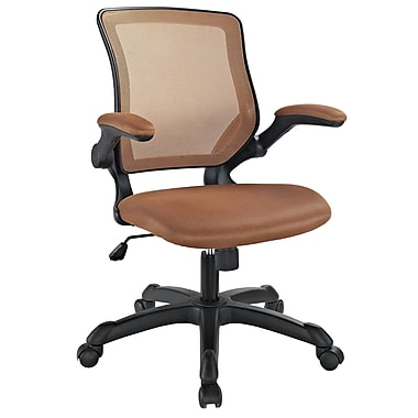 Modway EEI-825-TAN Veer Mesh Executive Chair with Adjustable Arms, Tan