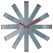 Modway EEI-839 Stainless Steel Ribbon Wall Clock, Gray