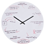 Modway EEI-840 Science Quiz Wall Clock, White