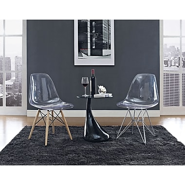 Modway 3 Piece Teardrop and Paris Living Room Set, Clear/Black