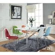 Modway Simplicity 7 Piece ABS Plastic Dining Set With 1 Dining Table and 6 Eiffel Chairs