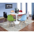 Modway Lippa 7 Piece ABS Plastic Dining Set With 6 Side Chairs and One 48in. Dining Table