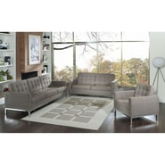 Modway Loft 3 Piece Wool Sofa Set With Loveseat, Oatmeal
