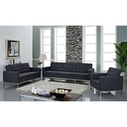 Modway Loft 4 Piece Wool Sofa Set, Dark Gray
