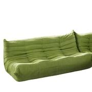 Modway Waverunner Padded Microfiber Modular Sofa, Green