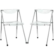 "Modway Telescope 30""H Acrylic Dining Side Chair, Clear, 2/Set"