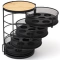 Lipper International 4 Tier Round Coffee Pod Tower with Swing Out Drawer