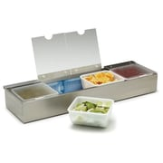 Carlisle 38704CSIB, 4 qt Condiment Caddies with 4 Notched Lids & 4 Ice Packs