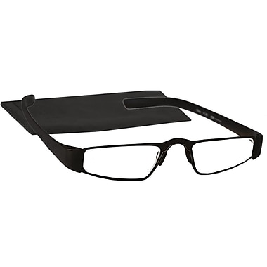 Peeperspecs® The Name is Bond Black Titanium Reading Glasses, +2.25