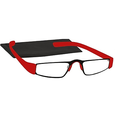 Peeperspecs® The Name is Bond Red/Black Reading Glasses, +1.25