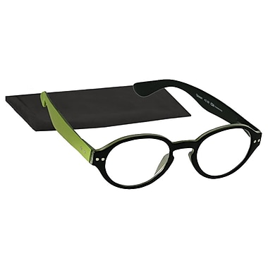 Peeperspecs® All The Rage Chartreuse/Black Reading Glasses, +2.75