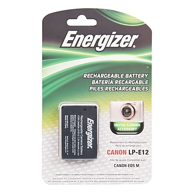 Energizer® ENB-CE12 Digital Replacement Battery LP-E12 For Canon EOS M Digital Mirrorless Camera