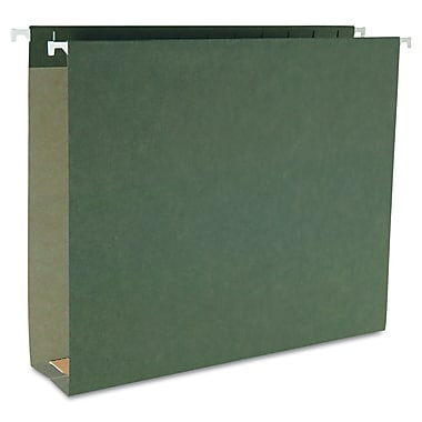 Smead® Letter Hanging File Folder With 2in. Expansion, Green, 25/Box
