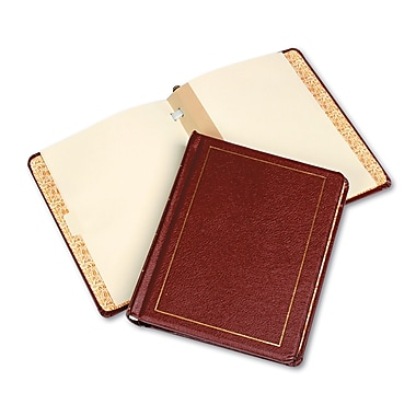 Wilson Jones® 250 Pages Imitation Leather Minute Book, Red, 8 1/2in. x 11in.