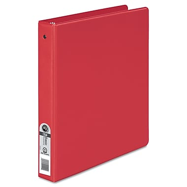 Wilson Jones 1-Inch Round Ring Nonview Binder, Red