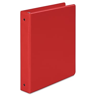 Wilson Jones® 368 Basic 1 1/2in. Capacity Round Ring Binder, Red