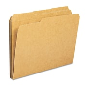 "Smead® Letter 1/3 Cut Tab File Folder With 3/4"" Expansion, Kraft, 100/Box"