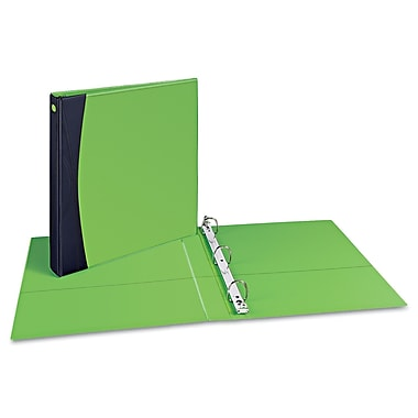 Avery® Comfort Touch 1 1/2in. Capacity Durable Slant Ring View Binder, Green/Black