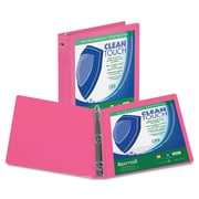 "Samsill® Clean Touch 3"" Capacity Antimicrobial Economy View Binder, Berry"