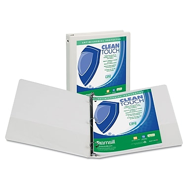 Samsill® Clean Touch 4in. Capacity Antimicrobial Economy View Binder, White