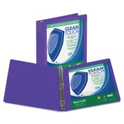 Samsill® Clean Touch 4 Capacity Antimicrobial Economy View Binder, Purple