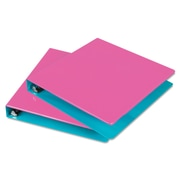 Samsill® Fashion Two-Tone 1 1/2 Capacity Round Ring Binder, Berry/Turquoise