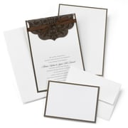 HBH™ Scalloped Top Wrap Invitation Kit, White/Brown