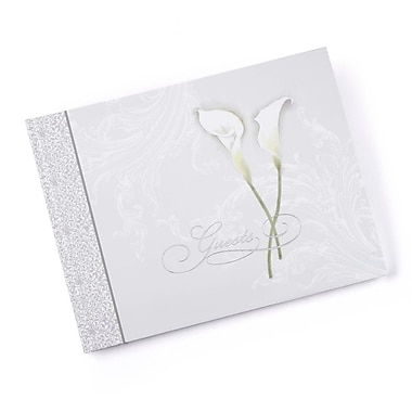 HBH™ Calla Lily Guest Book, Taupe