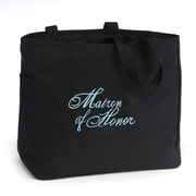 "HBH™ 12"" x 6 1/2"" x 14"" ""Matron Of Honor"" Tote Bag, Black"