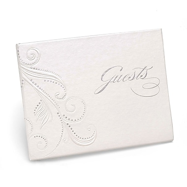 HBH™ Swirl Dots Guest Book, White