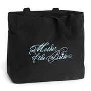 "HBH™ 12"" x 6 1/2"" x 14"" "" Mother Of The Bride"" Tote Bag, Black"