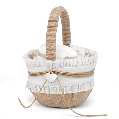 HBH™ Rustic Romance Basket, Natural/White