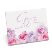 HBH™ Watercolor Flowers Guest Book, Pink and Purple
