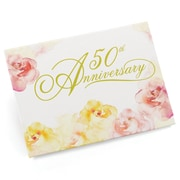HBH™ 50th Anniv Watercolor Guest Book, Pink and Yellow