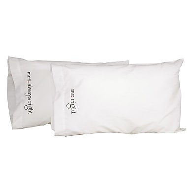 HBH™ Mr. and Mrs. Right Pillowcases, White