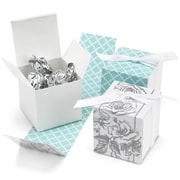 HBH™ Reversible Floral Wrap Favor Boxes, White