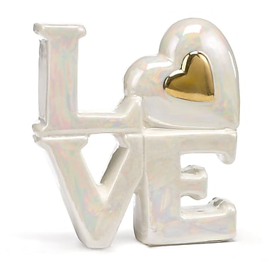 HBH™ 4in.(H) Porcelain in.Lovein. Cake Tops With Heart Accent