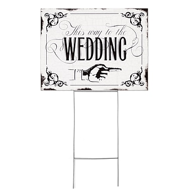 HBH™ Vintage This Way to the Wedding Yard Sign