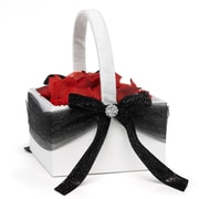 HBH™ Dreams Come True Flower Girl Basket, White/Black
